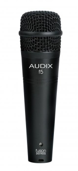 AUDIX f5  Инструментальный микрофон, динамич. гиперкардиоид. 55Гц-15кГц, 2,2mV/Pa, SPL137dB